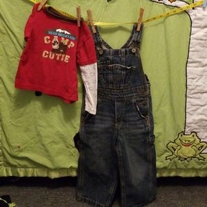 Other - 24m Oshkosh Overall and Carter Long Sleeve